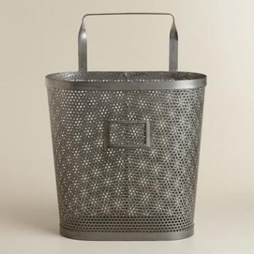 Oval Yvette Metal Basket